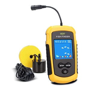 LUCKY affordable fish finder with Sonar Transducer and LCD Display