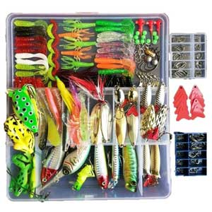 Topconcpt 275pcs Large Tackle Box Included Frog Lures