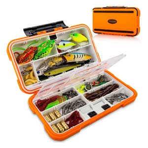 CatchMeister Tackle Box For Bass Fishing with Lure Kit