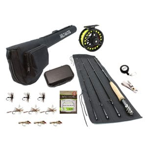Wild Water 9 Foot, 4-Piece, Fishing Rod and Reel Combo Starter Package