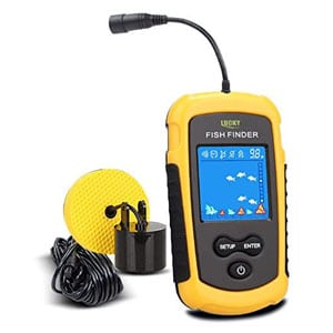 LUCKY Fish Finder For Canoe with Transducer and LCD Display
