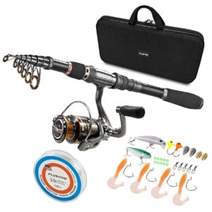 PLUSINNO rod and reel combo for trout, Stainless Steel BB Spinning Reel