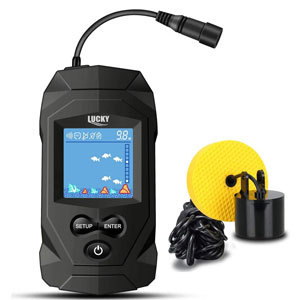 LUCKY Portable Fish Finders Wired Transducer Kit